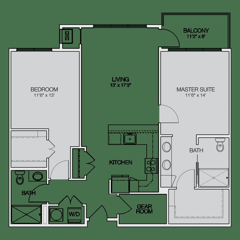 Best Floor Plan C Greenbelt Apartments With Pictures