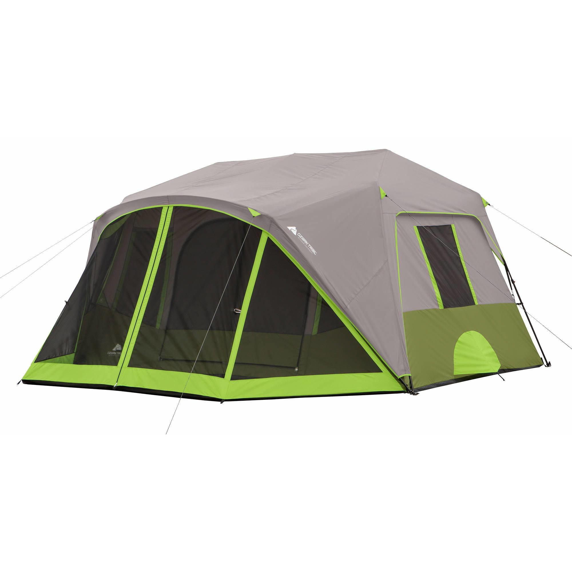 Best Ozark Trail 9 Person 2 Room Instant Cabin Tent With Screen With Pictures