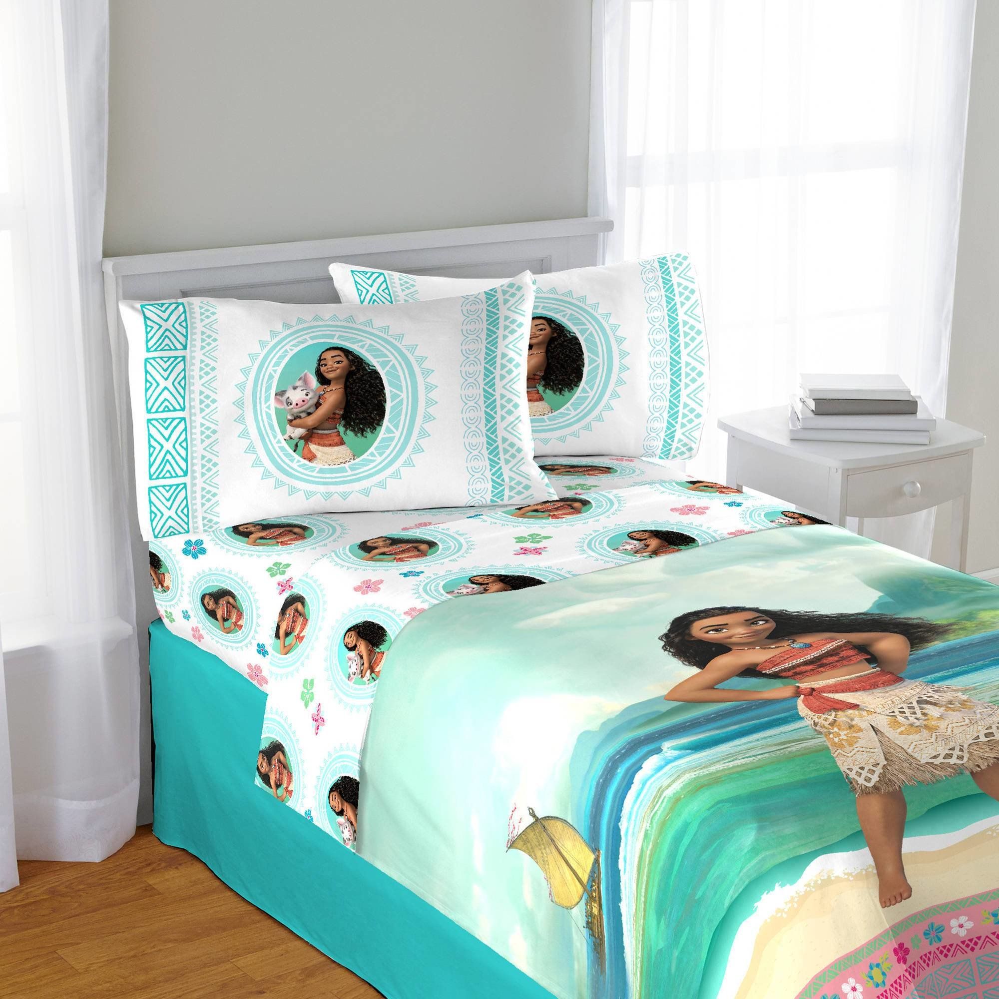 Best Disney Moana Full Sheet Set 4 Piece Girls Bedroom With Pictures