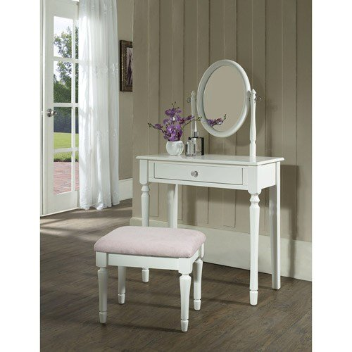 Best Princess Bedroom Vanity Set With Mirror And Bench White With Pictures