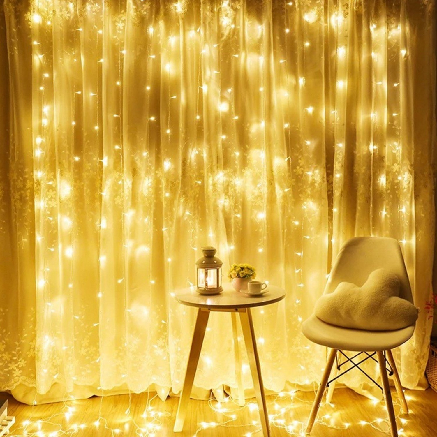 Best Torchstar 9 8Ft X 9 8Ft Led Curtain Lights Starry With Pictures