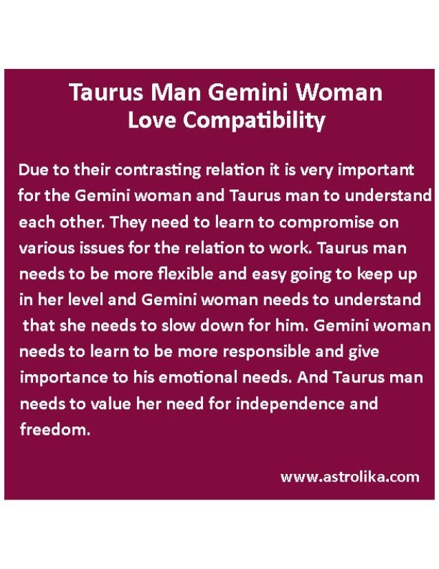 Best Taurus Man Gemini Woman Love Compatibility Attraction With Pictures