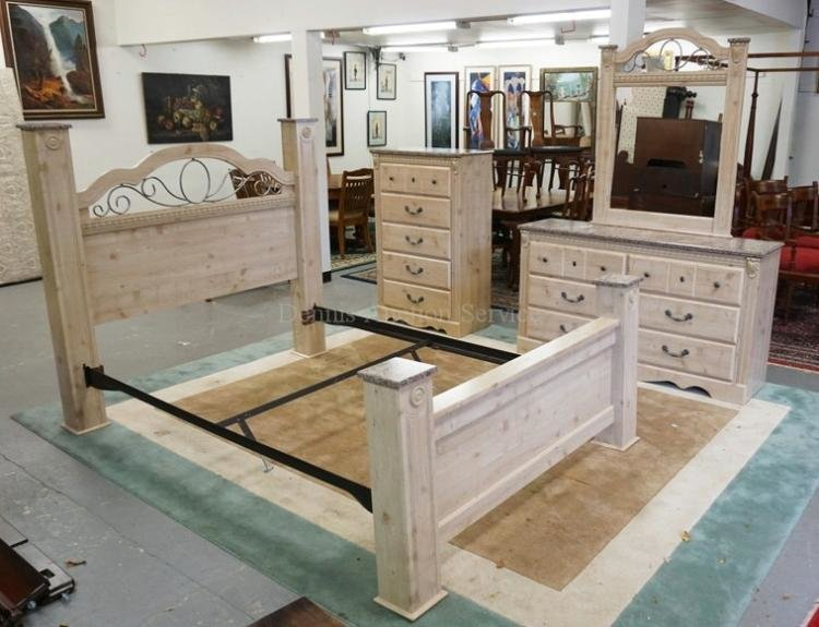 Best 3 Piece Bedroom Set With Faux Marble Tops With Pictures