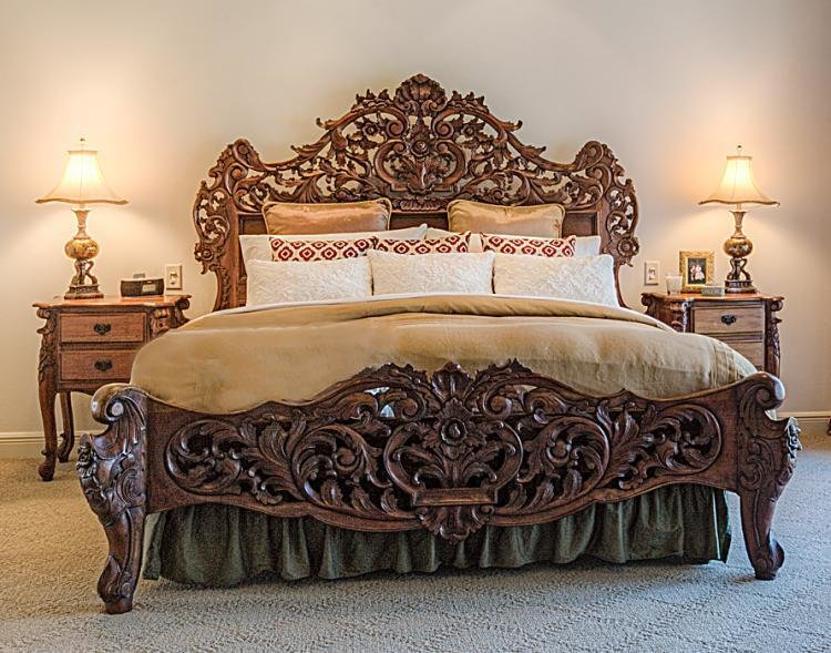 Best Rococo Style Carved Bedroom Set With Pictures