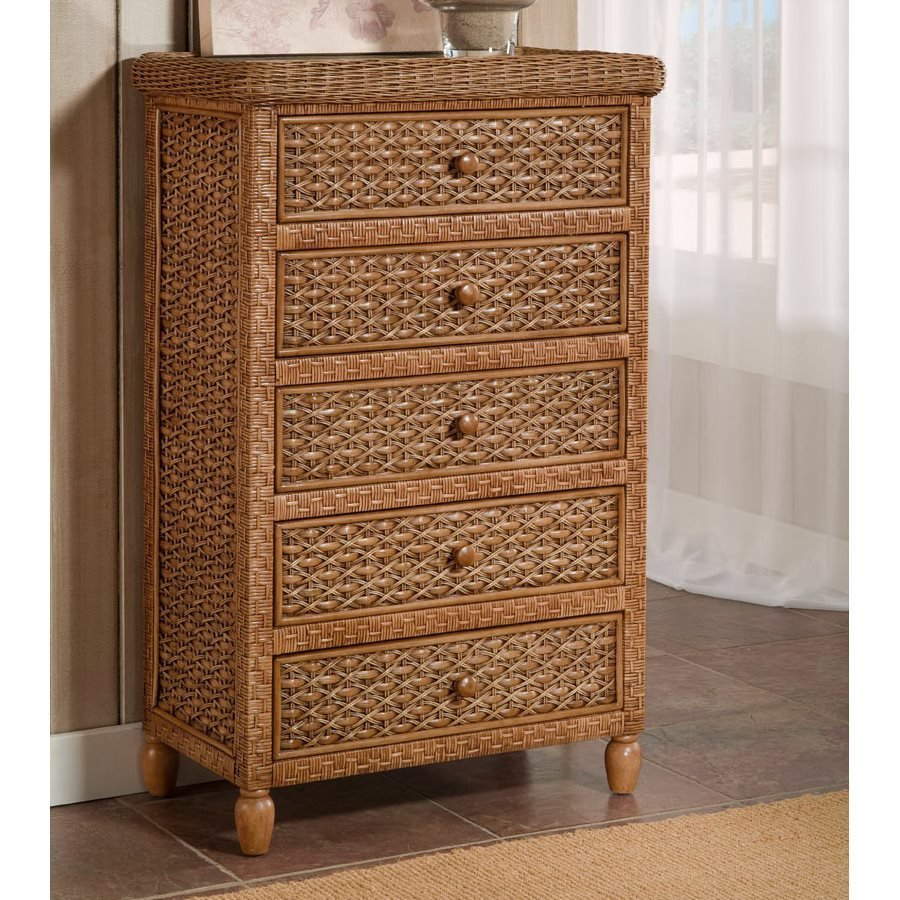 Best Seawinds Trading B42935 Toffee West Indies 5 Drawer Chest With Pictures
