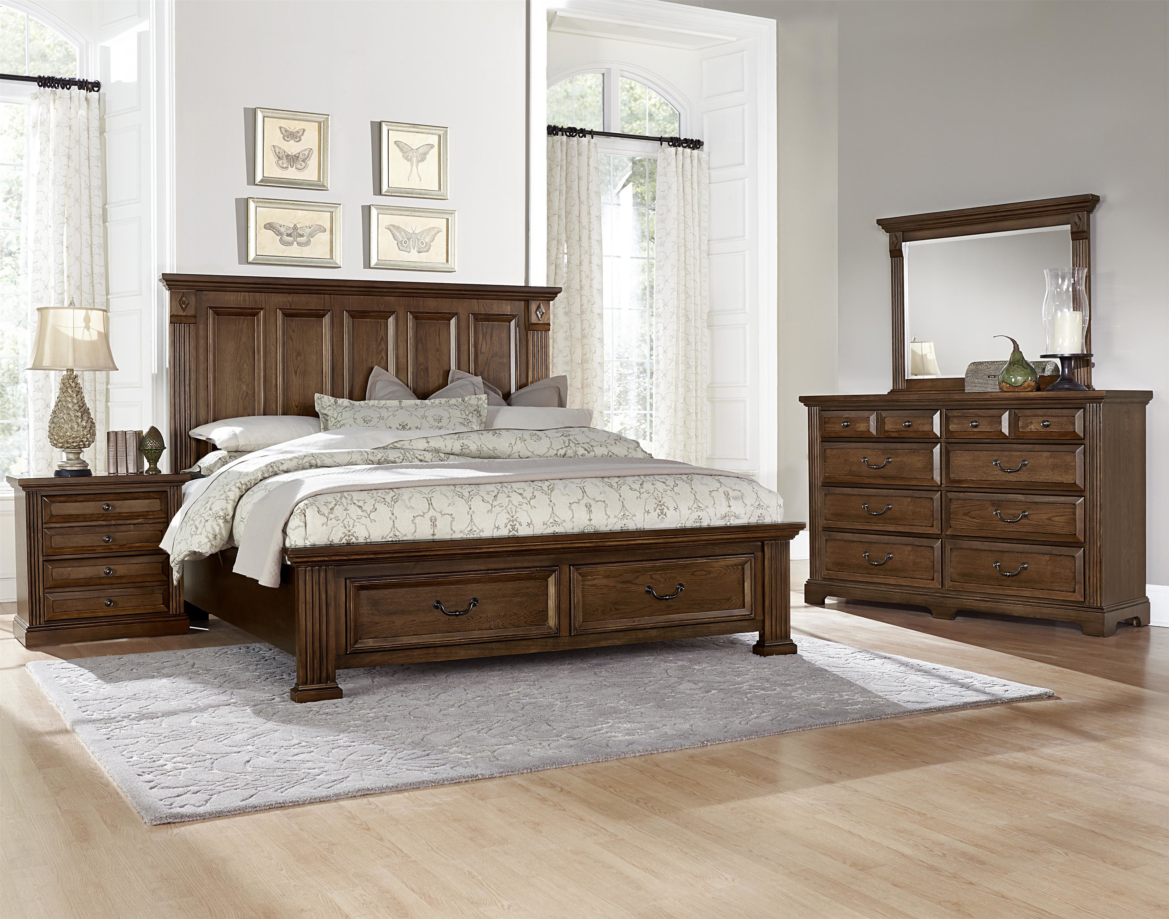 Best Vaughan Bassett Woodlands King Bedroom Group Dunk With Pictures