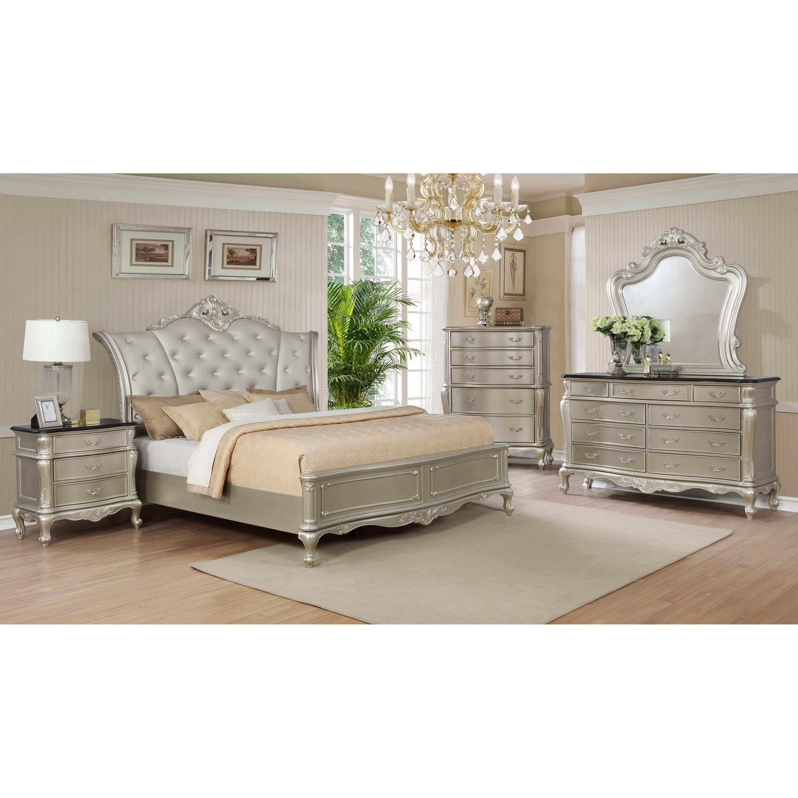 Best Crown Mark Angelina Queen Bedroom Group Royal Furniture With Pictures
