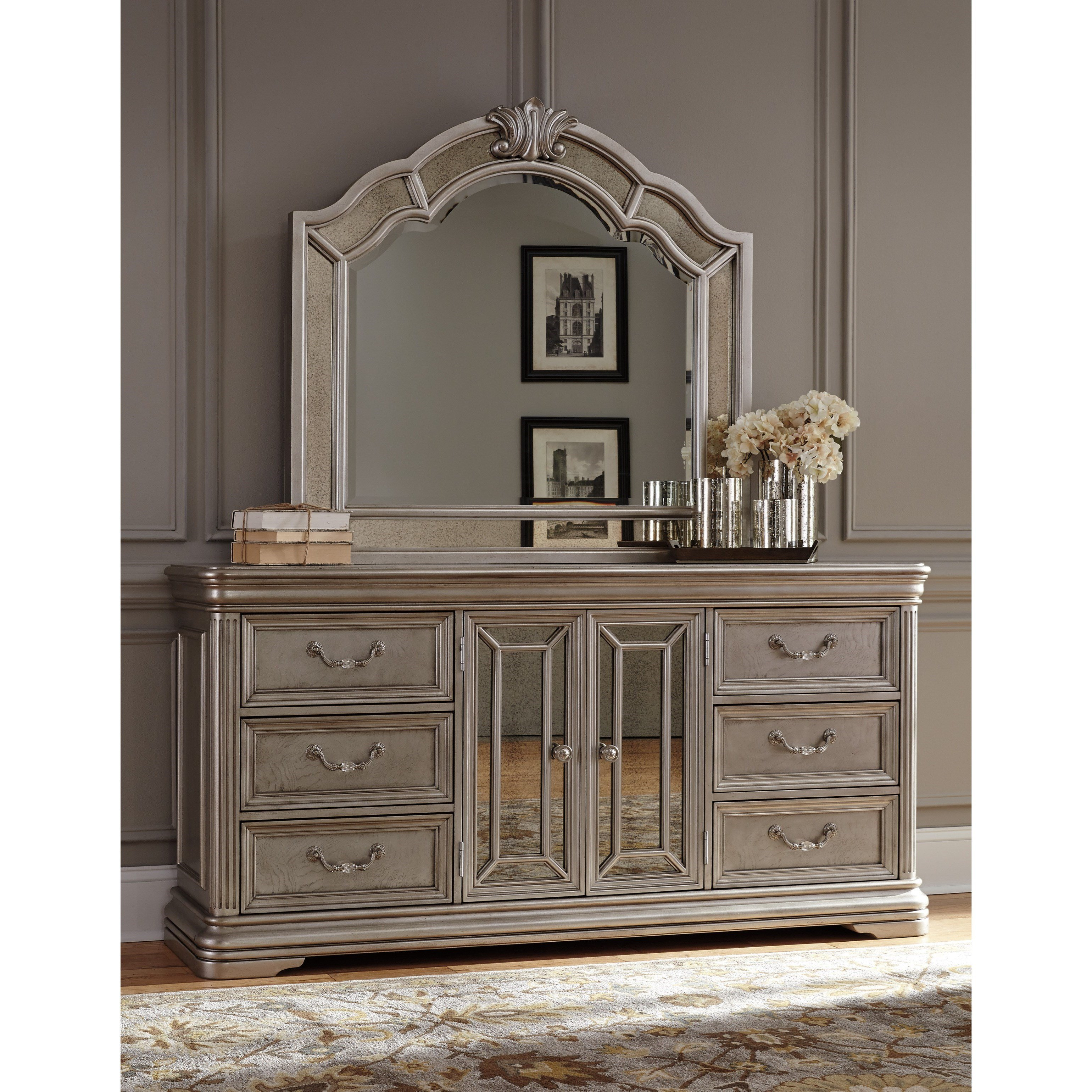 Best Signature Design By Ashley Birlanny Dresser With Mirror Panels Bedroom Mirror Miskelly With Pictures