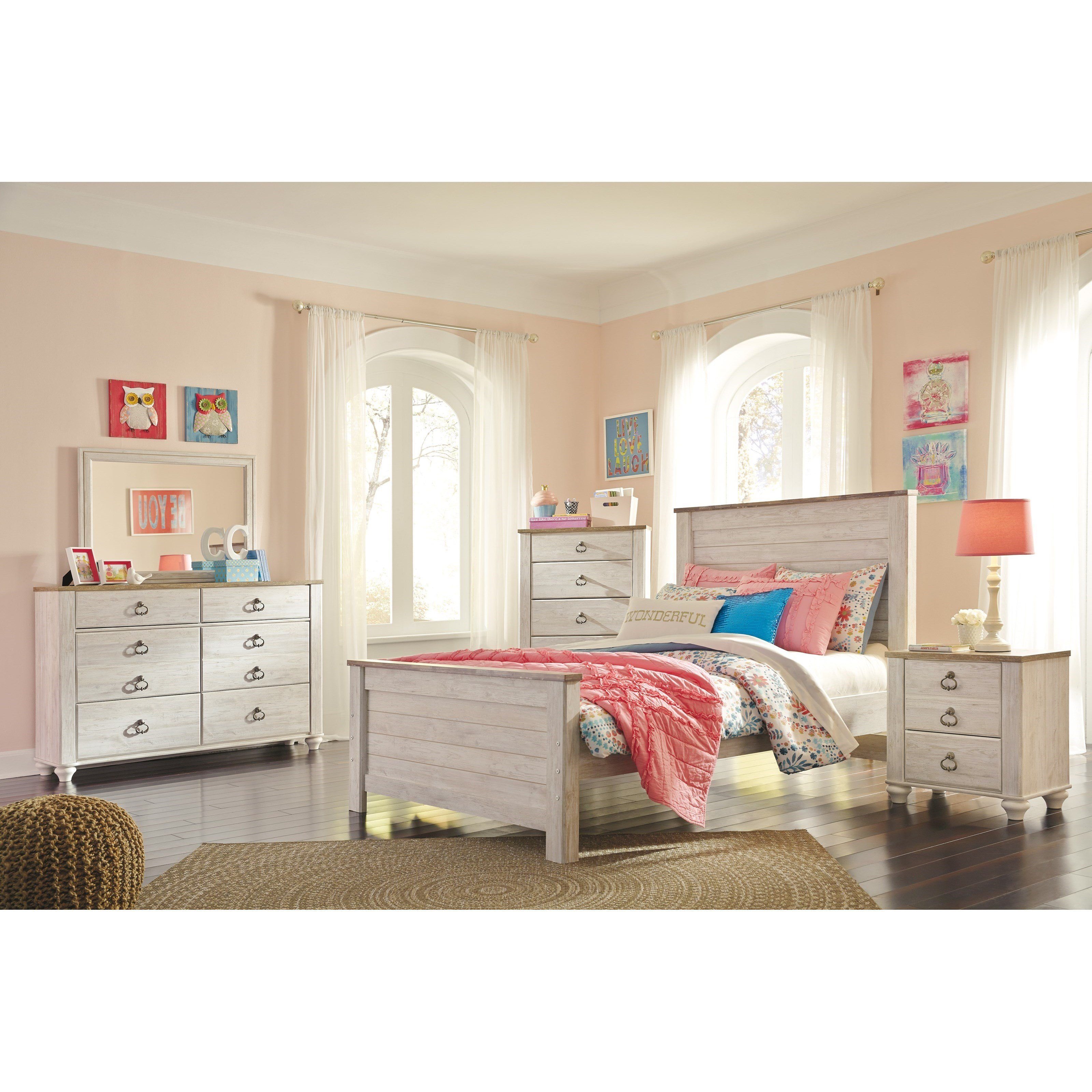 Best Signature Design By Ashley Willowton Full Bedroom Group With Pictures