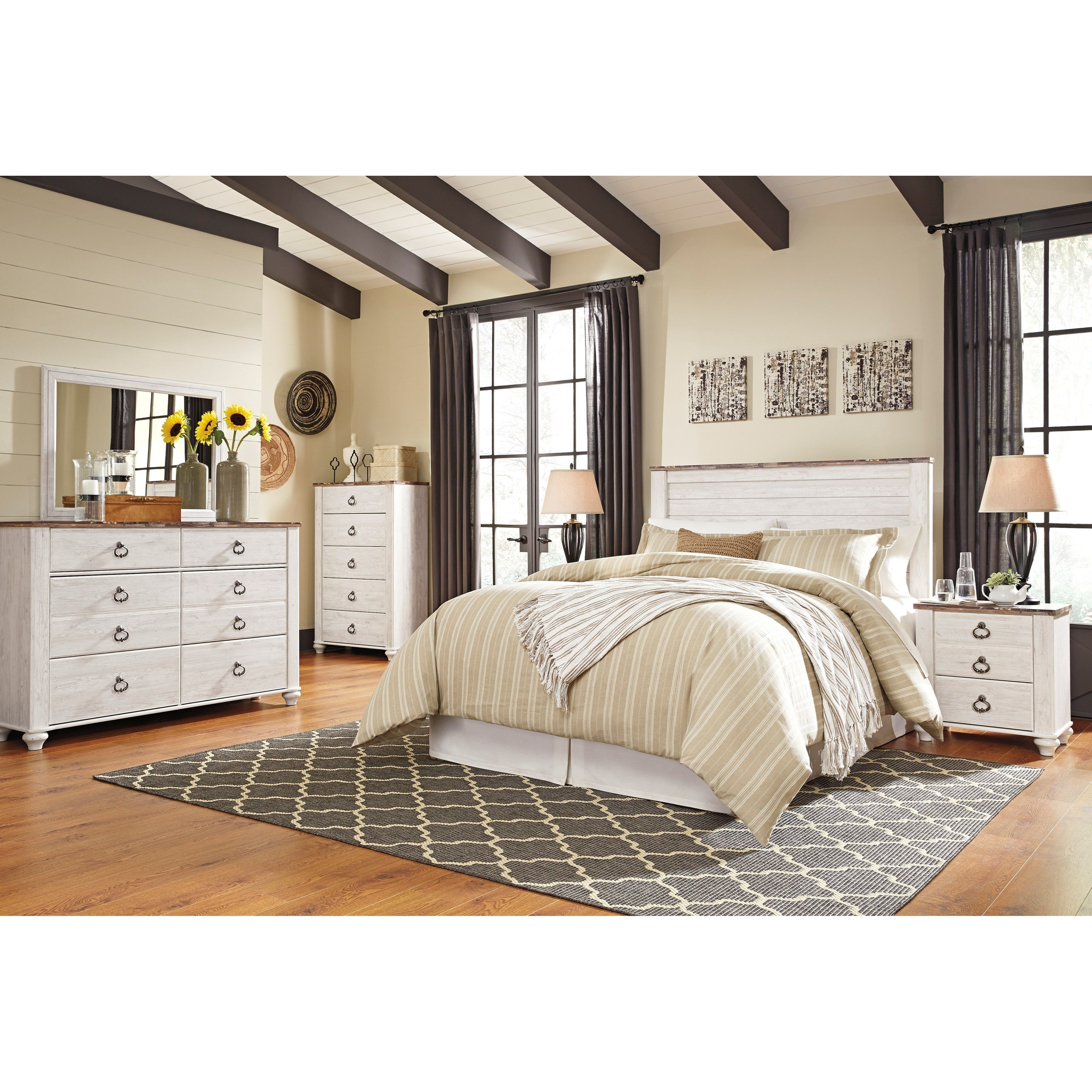 Best Signature Design By Ashley Willowton Queen Full Bedroom With Pictures