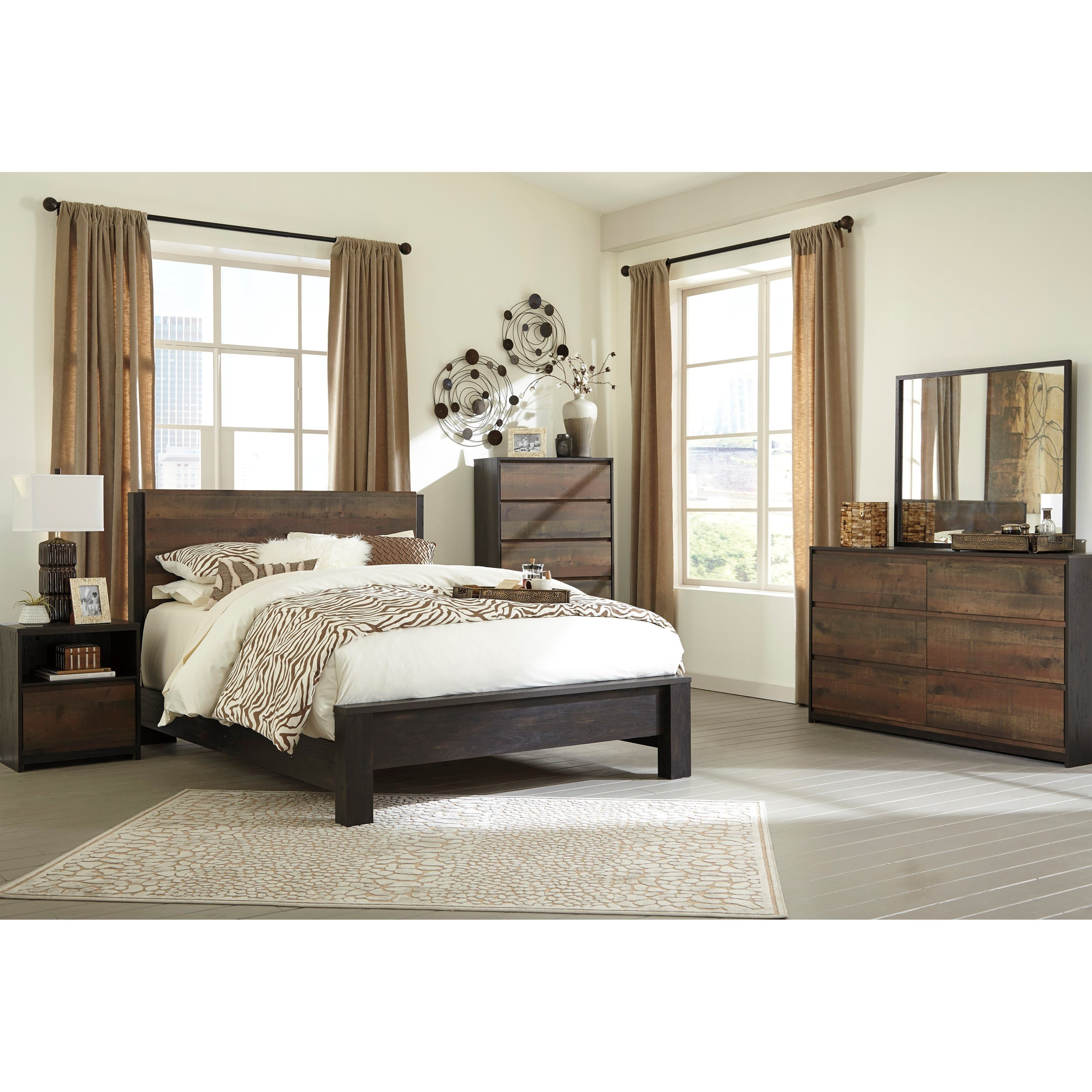 Best Signature Design By Ashley Windlore Queen Bedroom Group With Pictures