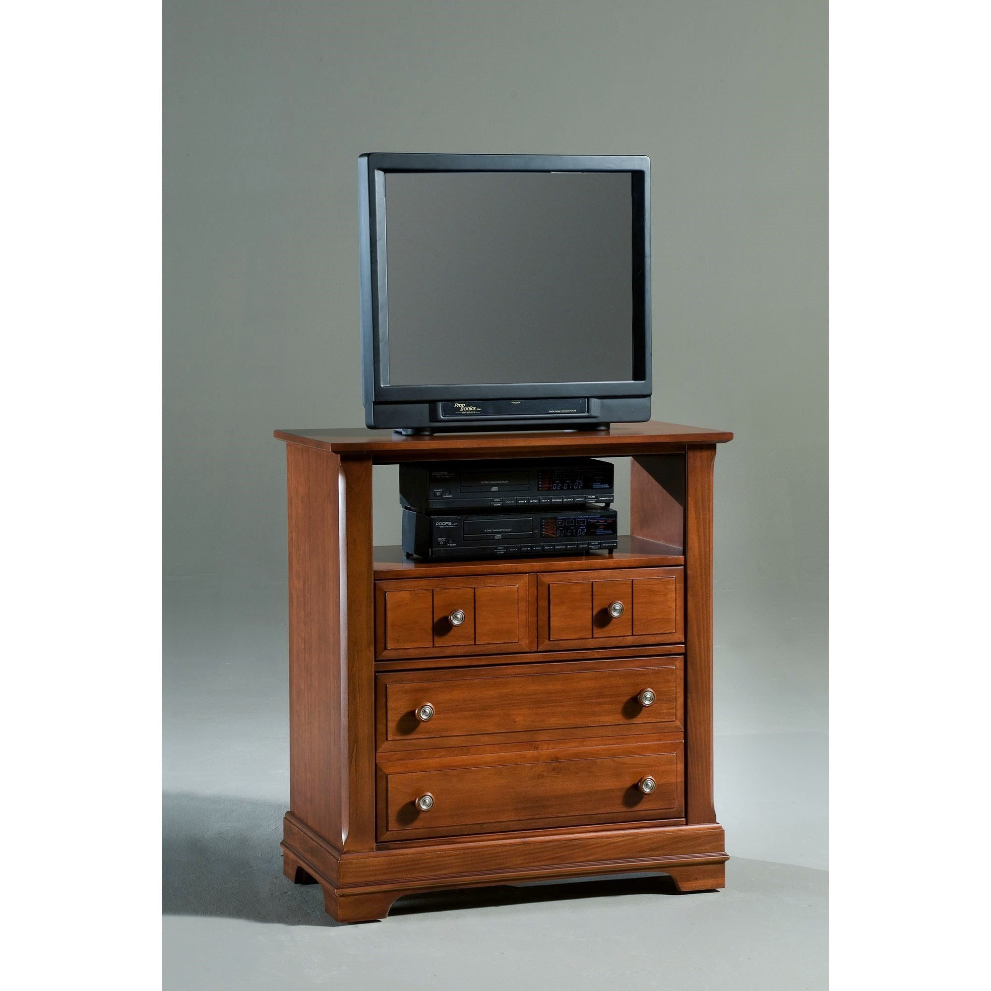 Best Vaughan Bassett Cottage Media Cabinet 2 Drawers Open With Pictures