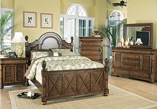 Best Key West Tobacco Tan Brown Panel 7 Pc King Bedroom 9 With Pictures