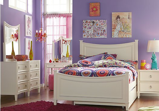 Best Jaclyn Place Ivory Off White 5 Pc Full Panel Bedroom With Pictures