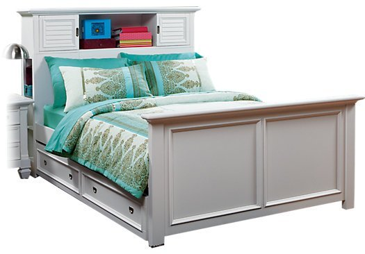 Best Belmar White 4 Pc Twin Bookcase Bed W Trundle With Pictures