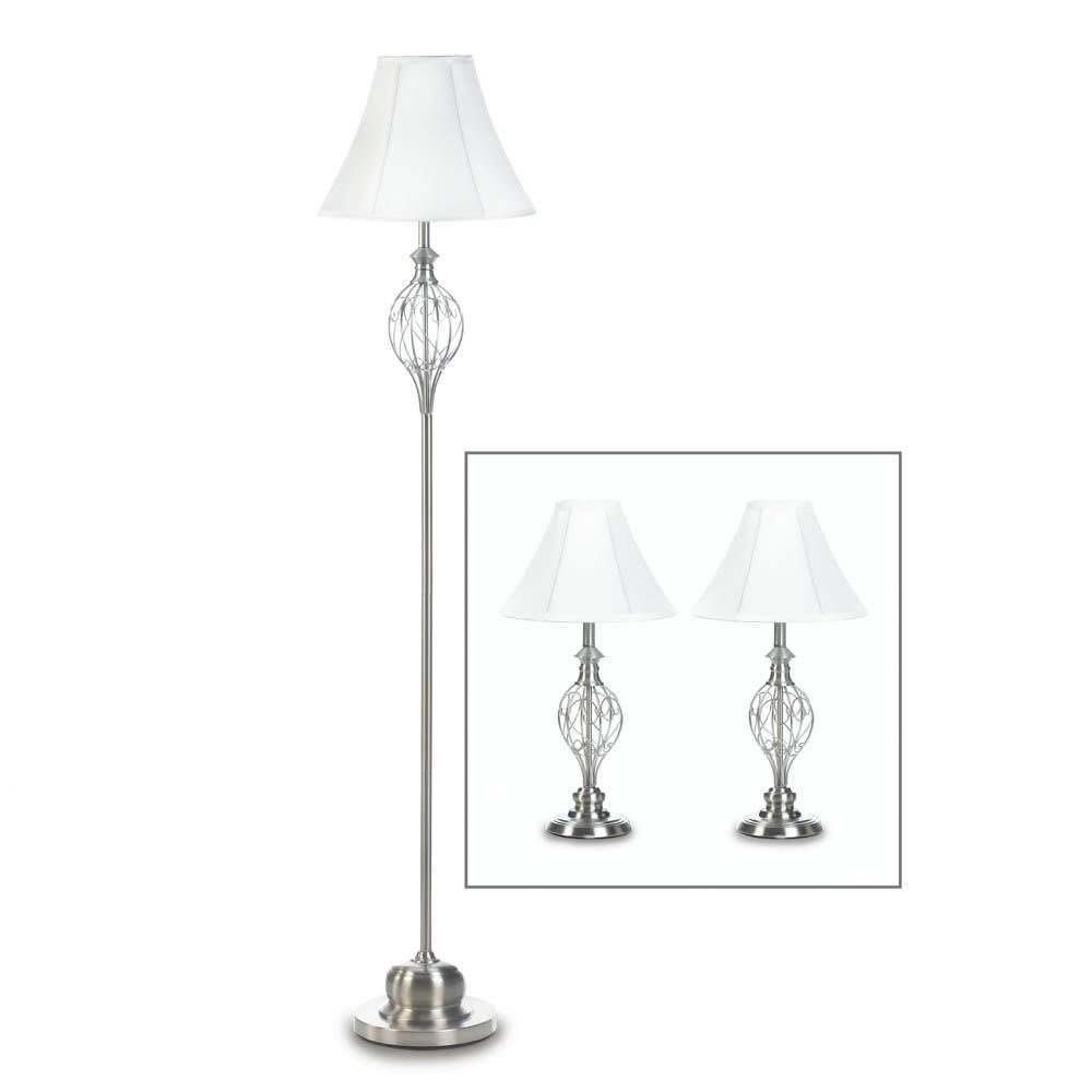 Best Lamp Set Iron Silver Long Floor Lamp For Bedroom Table With Pictures