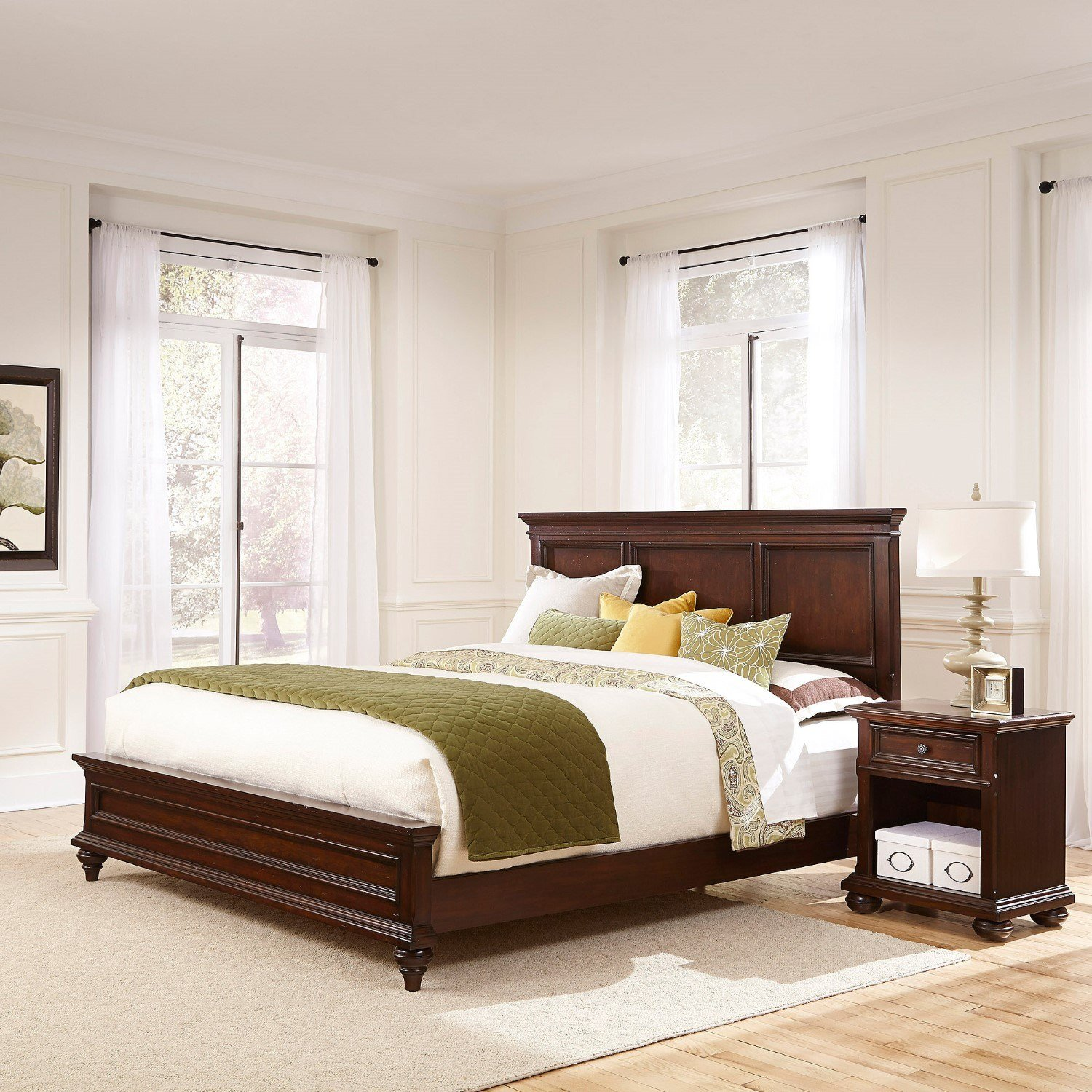 Best Home Styles Colonial Classic 2 Piece Wood King Bedroom Set With Pictures