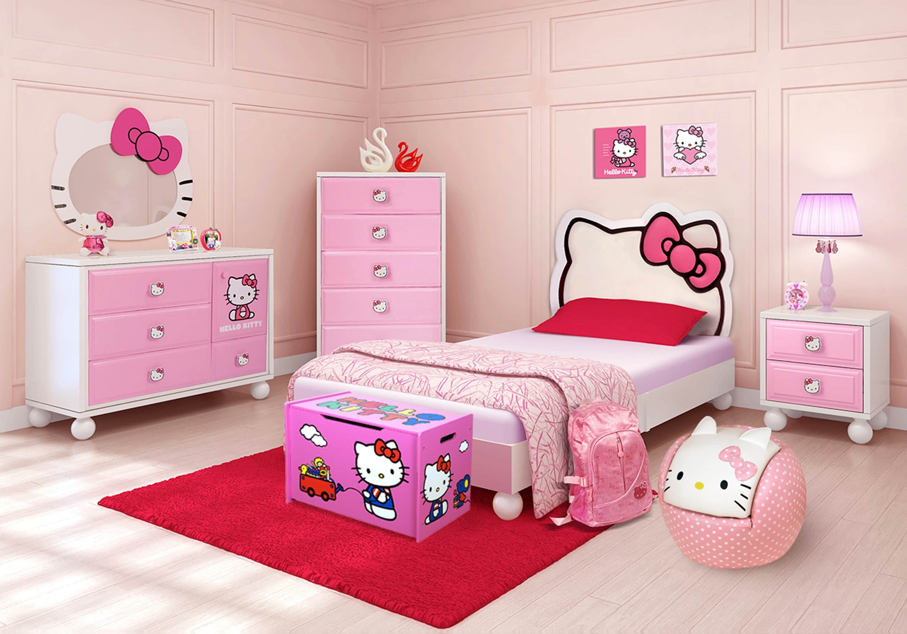 Best Hello Kitty Twin Bedroom Girls Bedroom Sets Colors With Pictures