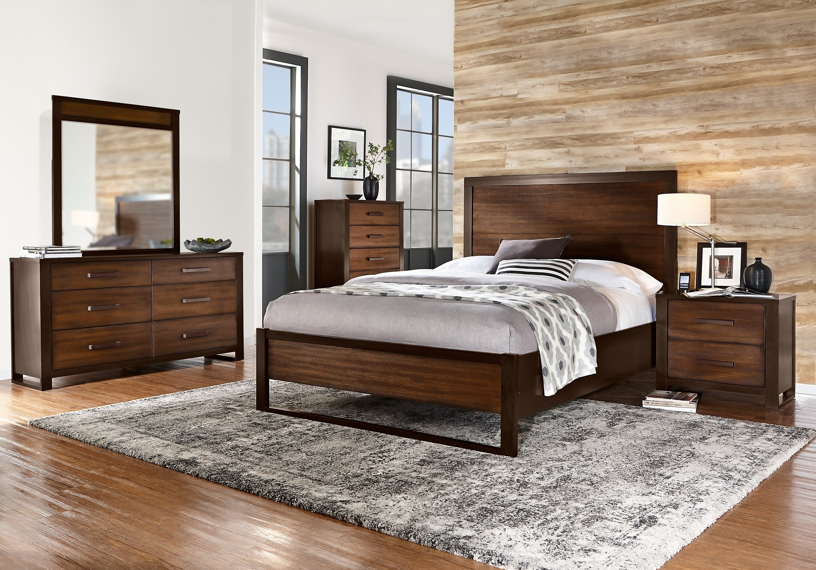 Best Abbott Hazelnut 7 Pc King Panel Bedroom King Bedroom With Pictures
