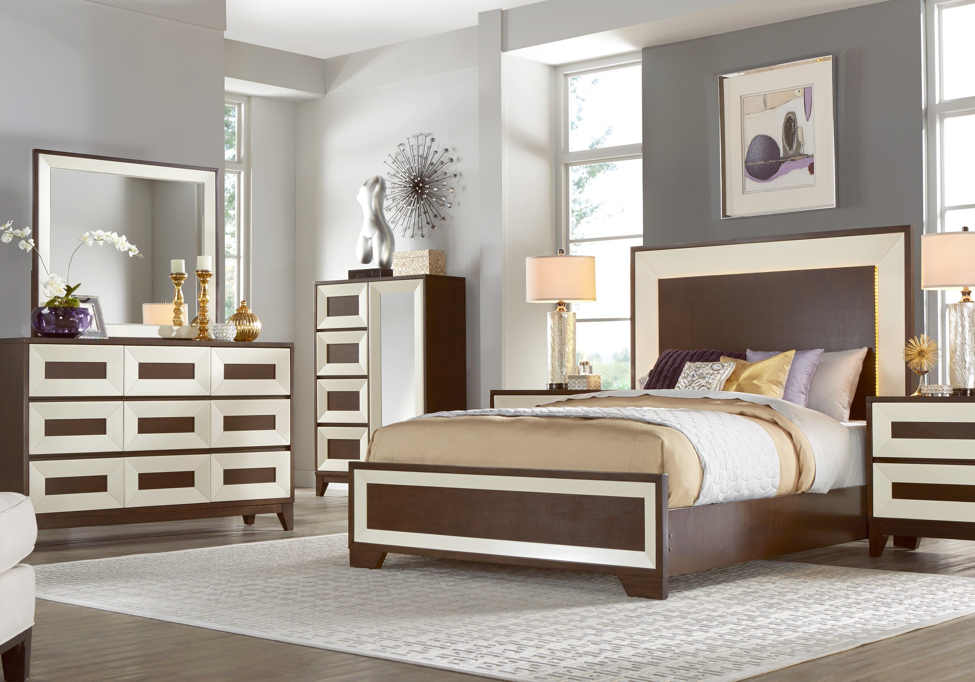 Best Sofia Vergara Savona Cherry 5 Pc King Panel Bedroom King With Pictures