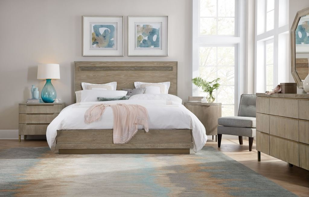 Best H**K*R Furniture Bedroom Pacifica Oval Nightstand 6075 With Pictures