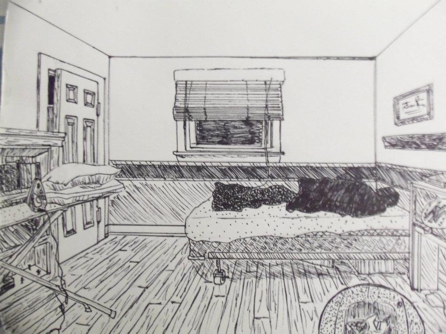 Best Bedroom In 1 Point Perspective By Xxnike Kovadrinxx On With Pictures
