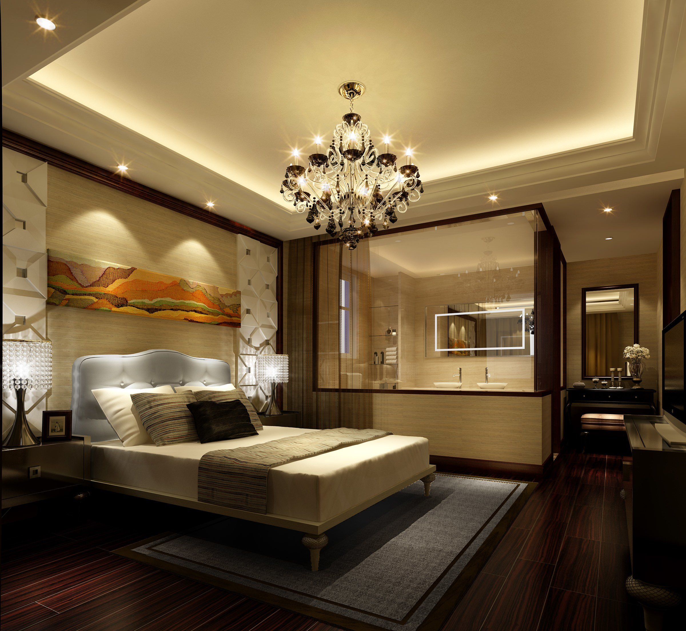 Best Bedroom With Bathroom 3D Model Max Cgtrader Com With Pictures