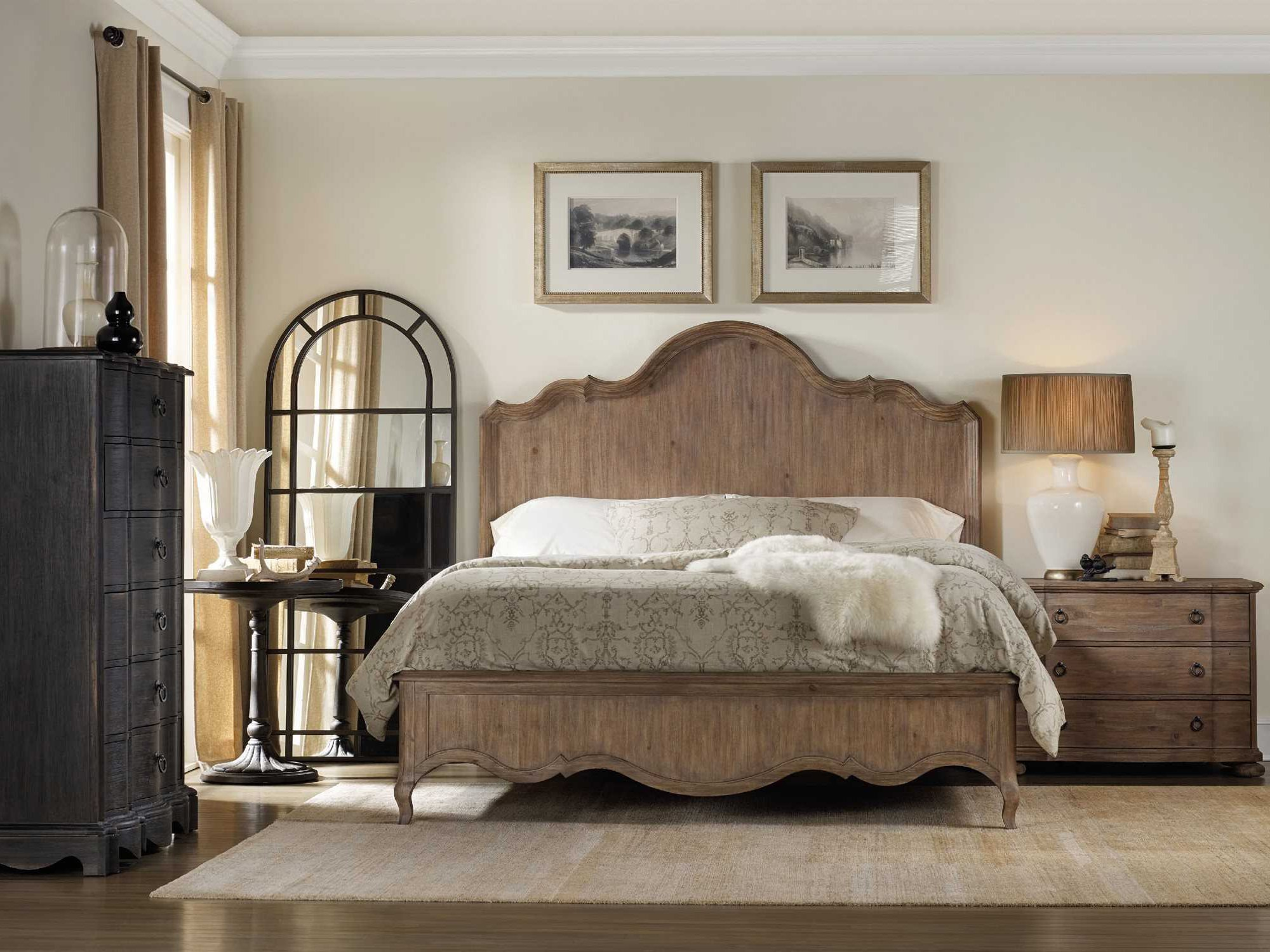 Best H**K*R Furniture Corsica Wood Panel Bed Bedroom Set With Pictures