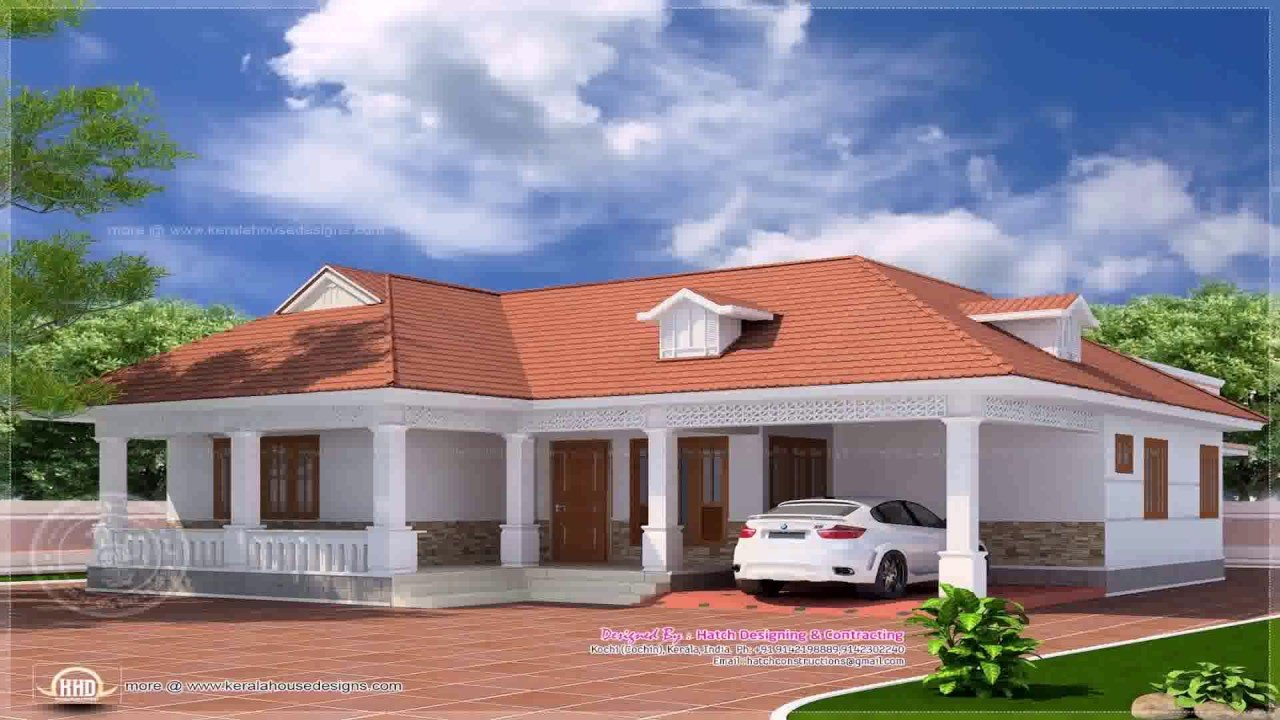 Best Kerala Style 4 Bedroom House Plans Single Floor Youtube With Pictures