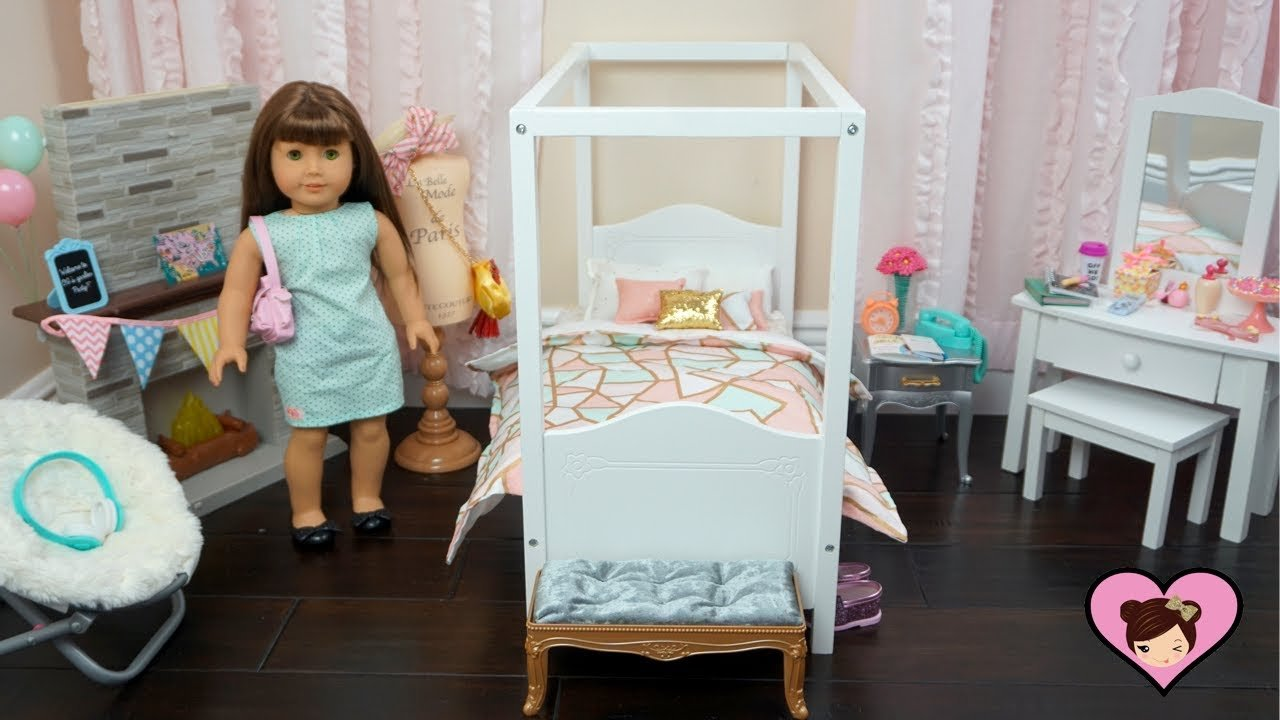 Best Baby Doll Bedroom Set Up For American Girl Room Toy With Pictures