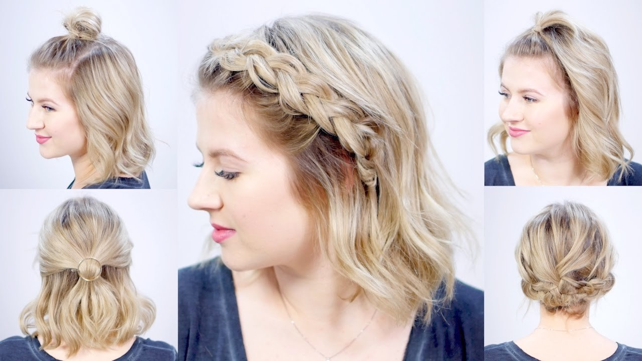 Free Five 1 Minute Super Easy Hairstyles Milabu Youtube Wallpaper