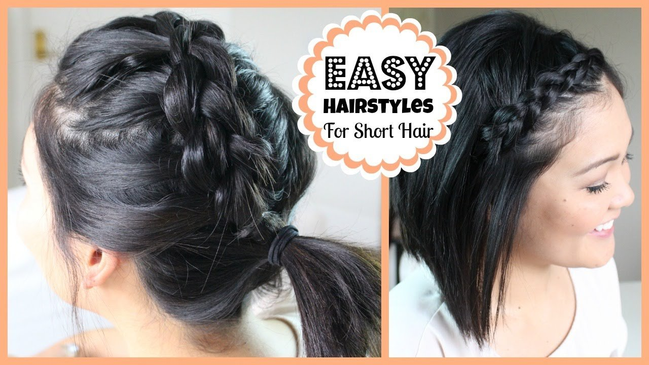Free Easy Hairstyles For Short Hair Youtube Wallpaper