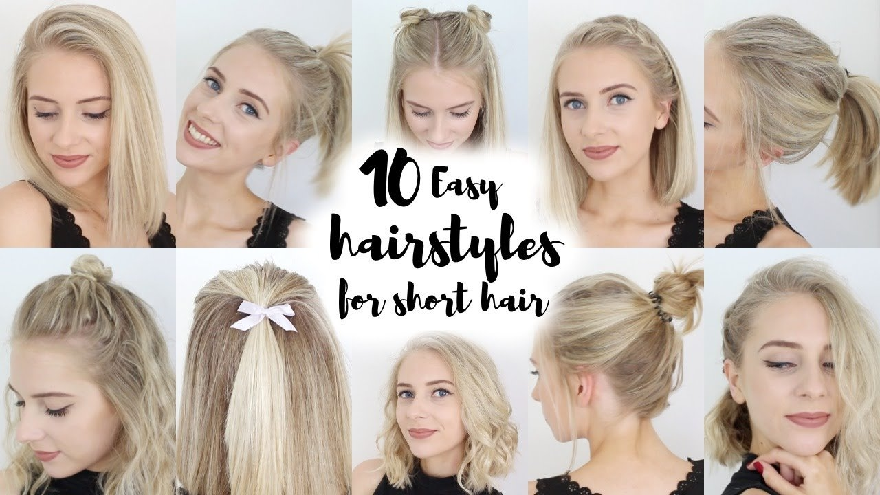 Free 10 Easy Hairstyles For Short Hair Youtube Wallpaper