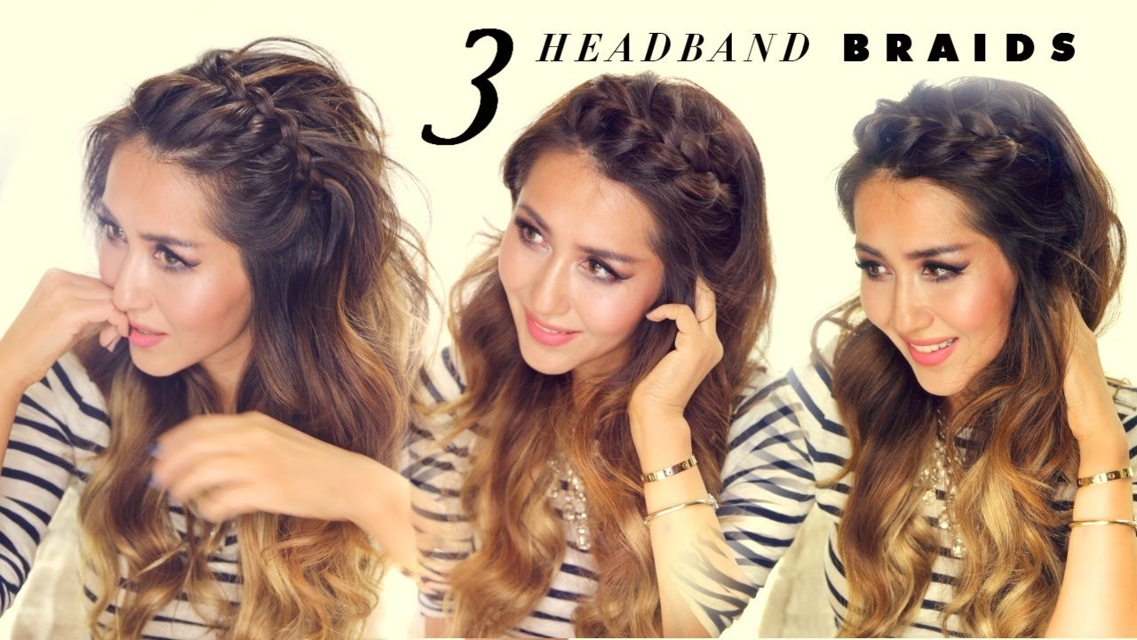 Free 3 Easy Peasy Headband Braids Quick Hack Hairstyles For Short Long Medium Hair Youtube Wallpaper