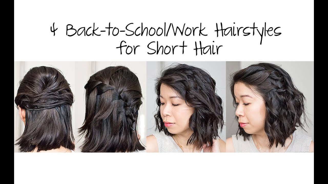 Free 4 Easy 5 Min Back To School Work Hairstyles For Short Hair Wallpaper