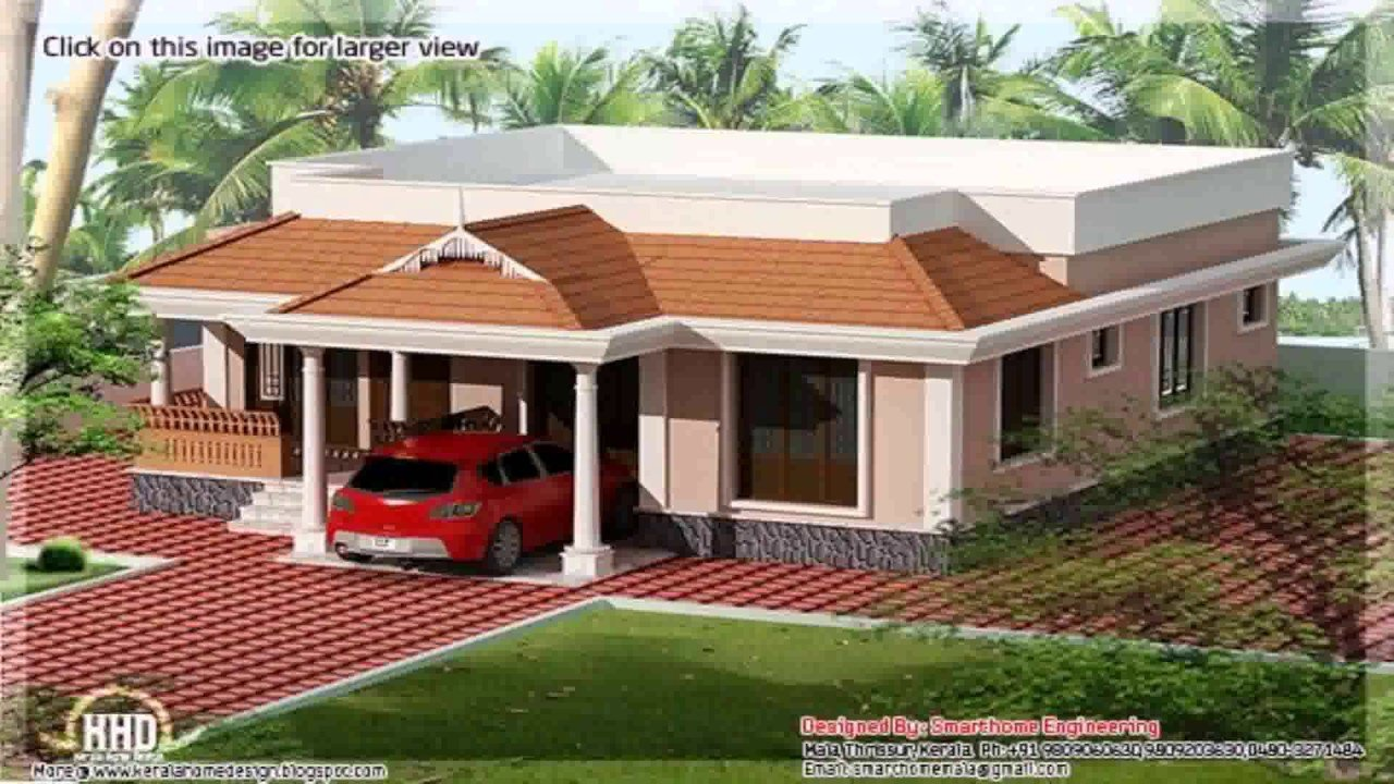 Best Kerala Style 3 Bedroom House Plans Single Floor Youtube With Pictures