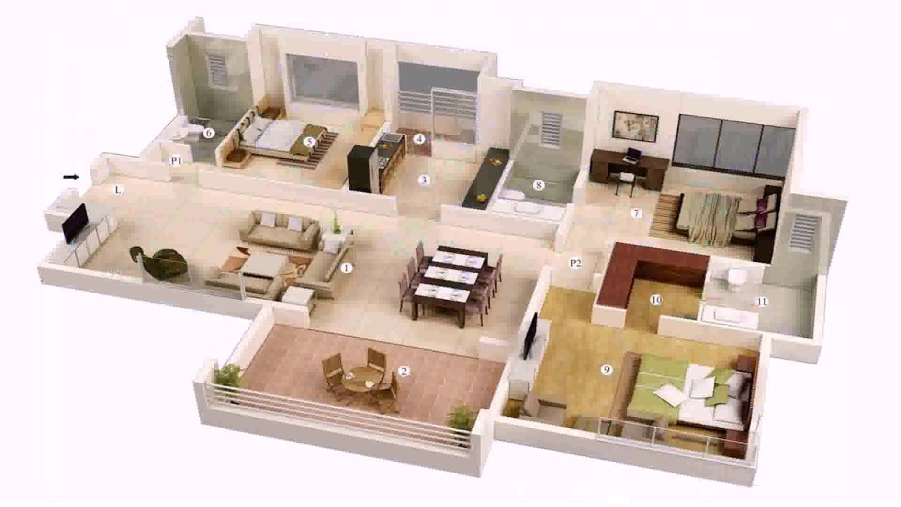 Best 3 Bedroom House Plans With Double Garage In South Africa With Pictures