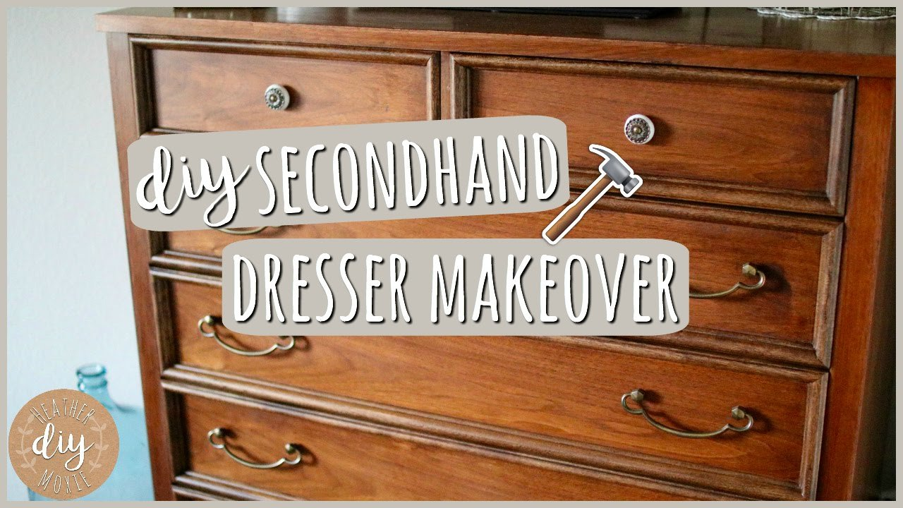 Best Diy Bedroom Furniture⎪Secondhand Dresser Makeover Youtube With Pictures