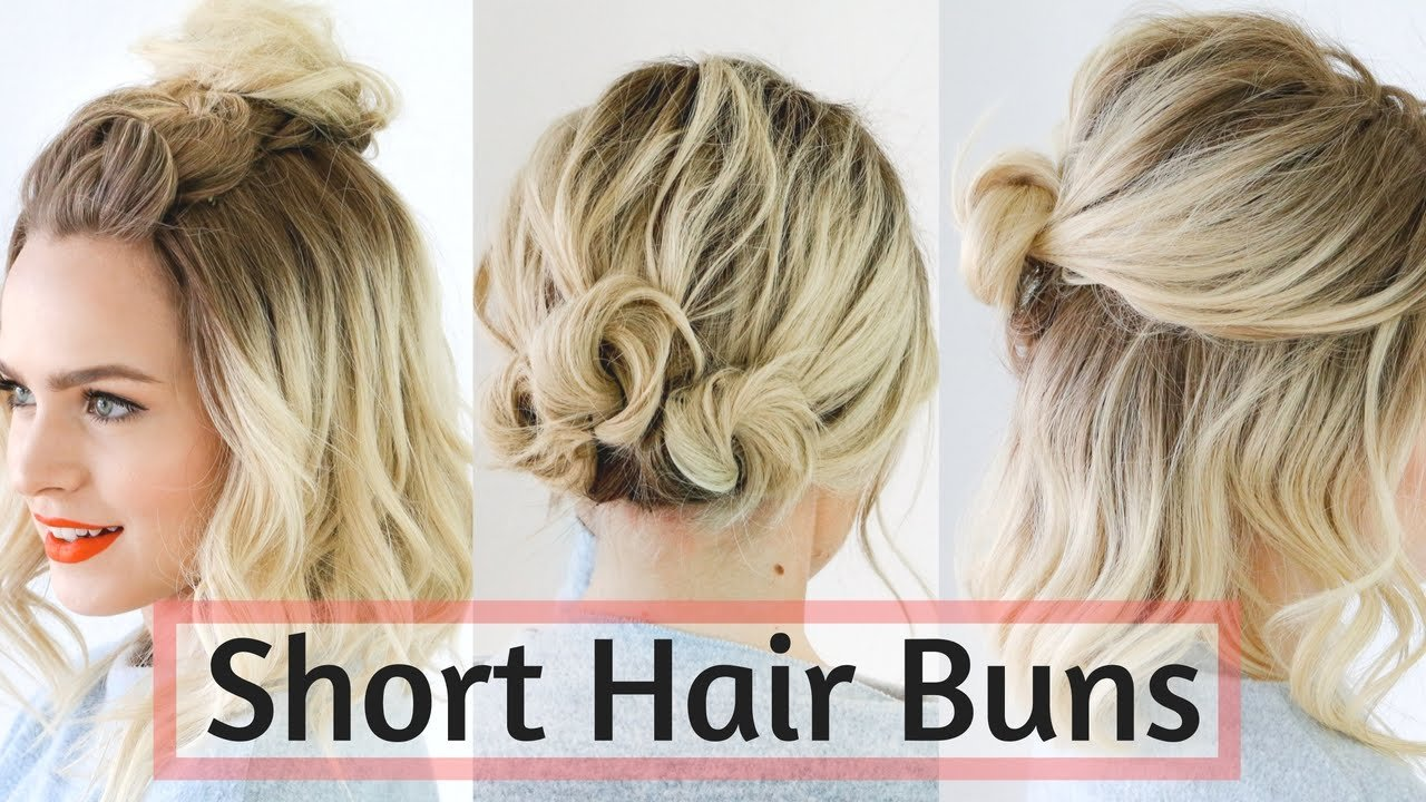 Free Quick Bun Hairstyles For Short Medium Hair Hair Wallpaper