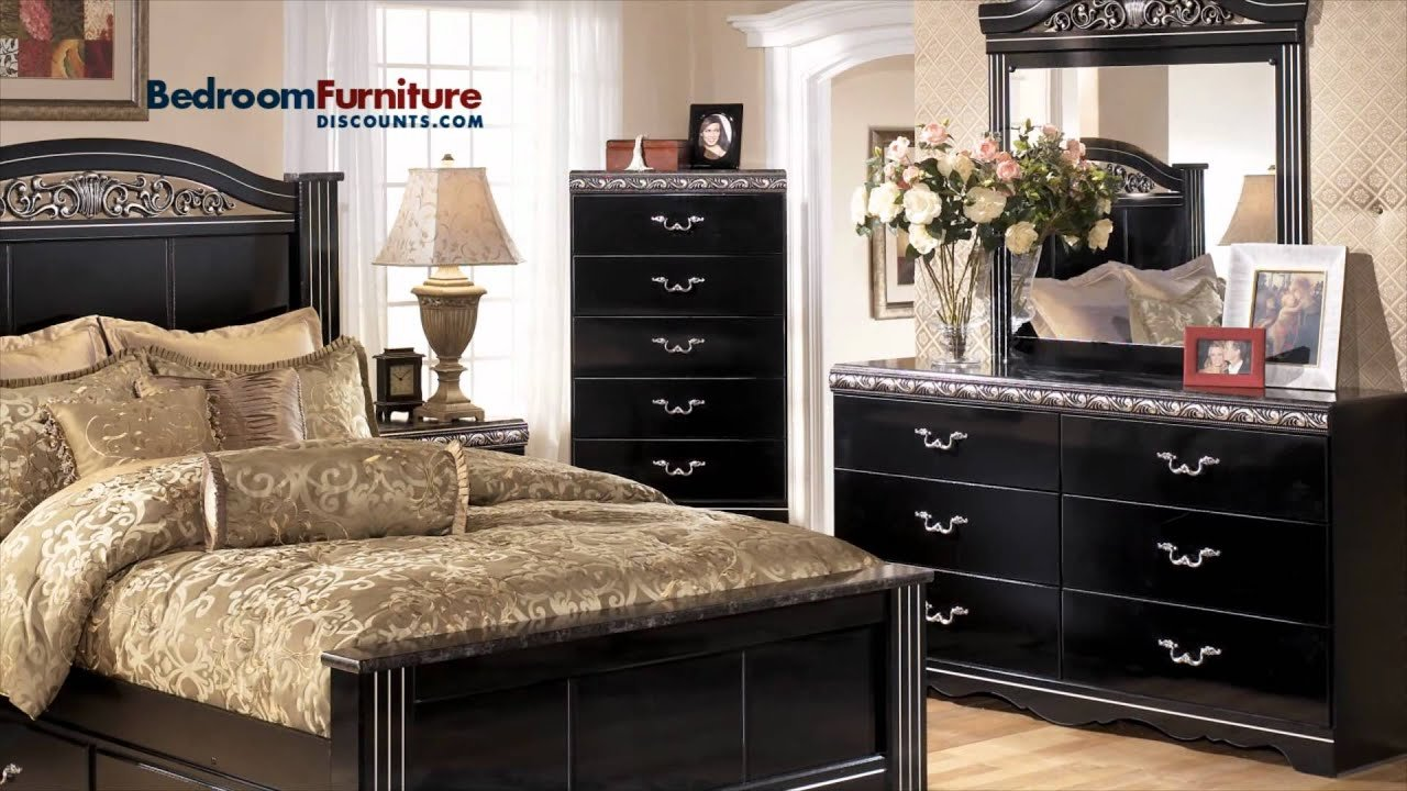 Best Ashley Constellations 4 Piece Poster Bedroom Set In Black Youtube With Pictures