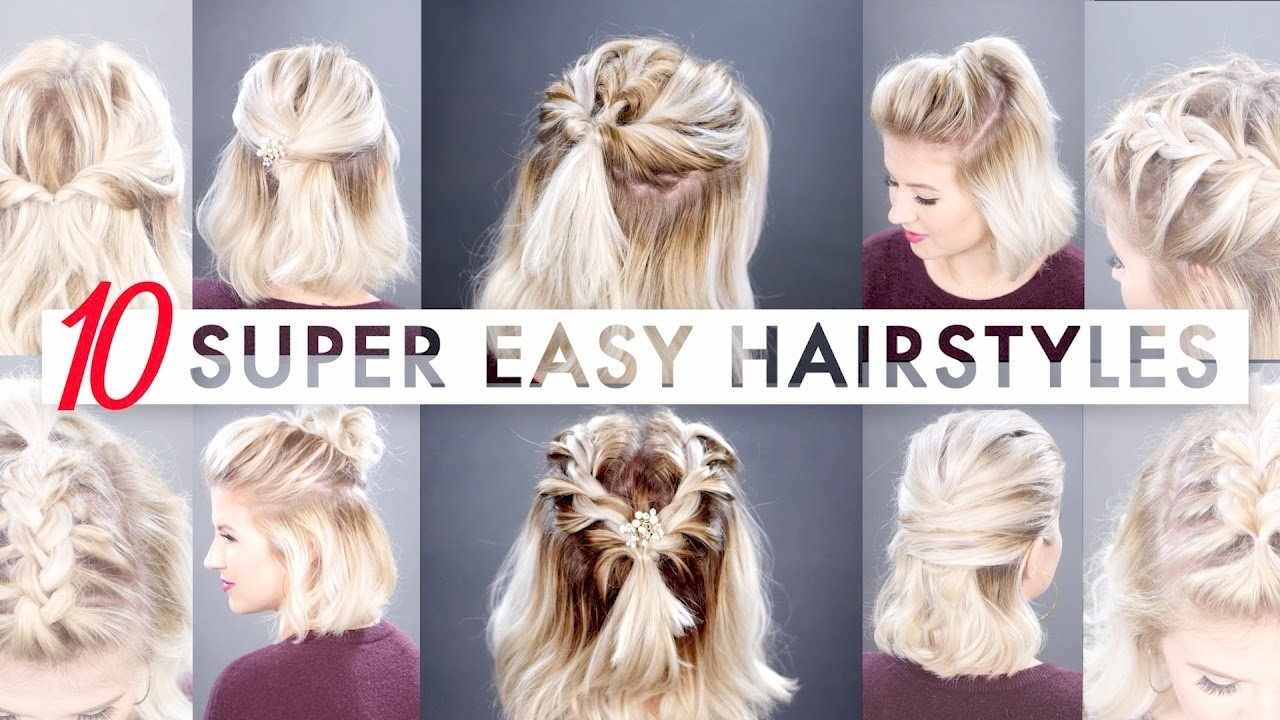 Free 10 Easy Half Up Hairstyles For Short Hair Tutorial Wallpaper