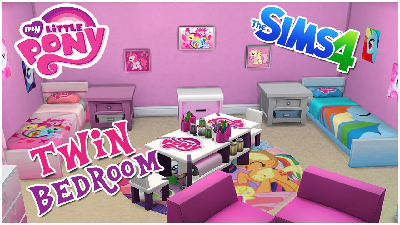 Best My Little Pony Themed Twin Bedroom The Sims 4 Room With Pictures