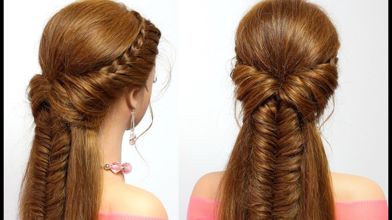 Free Easy Hairstyle For Long Hair With Braids Tutorial Youtube Wallpaper