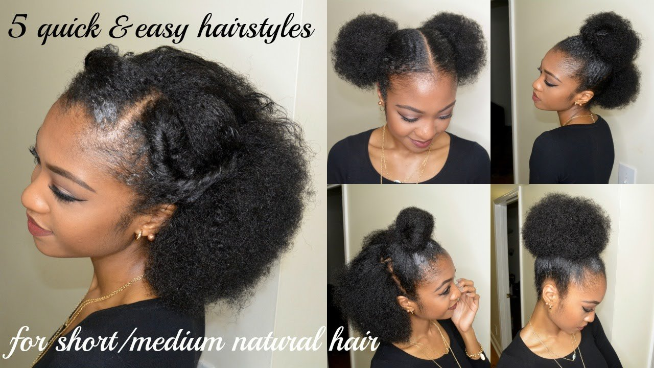Free 5 Quick Easy Hairstyles For Short Medium Natural Hair Wallpaper