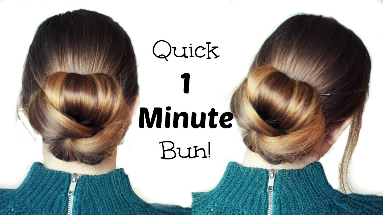 Free Quick And Easy 60 Second Bun Hairstyle Updo Easy Wallpaper