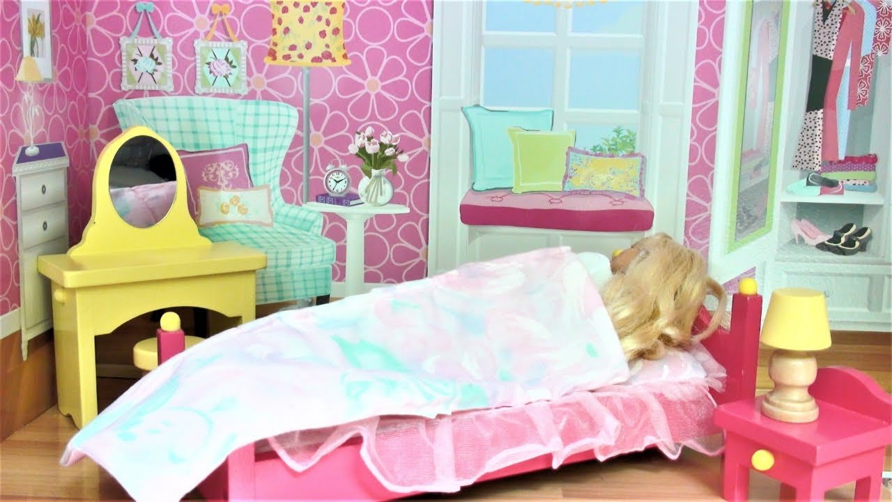 Best Barbie Doll Bedroom Dollhouse Pink Bathroom Toy Play Barbie Baby Doll Morning Routine बार्बी With Pictures