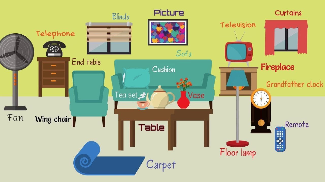 Best Living Room Furniture Learn Names Of Living Room Objects With Pictures
