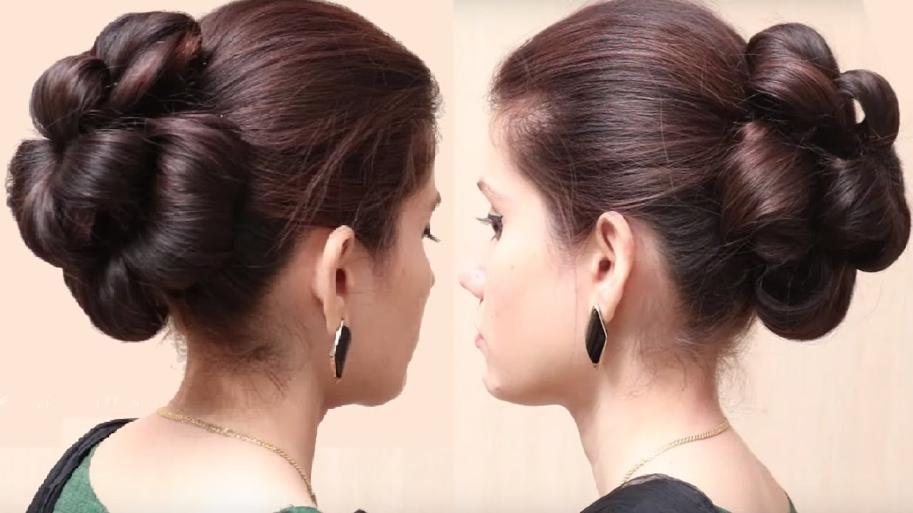 Free Flower Bun Hairstyle For Girls Easy Hairstyle For Long Wallpaper
