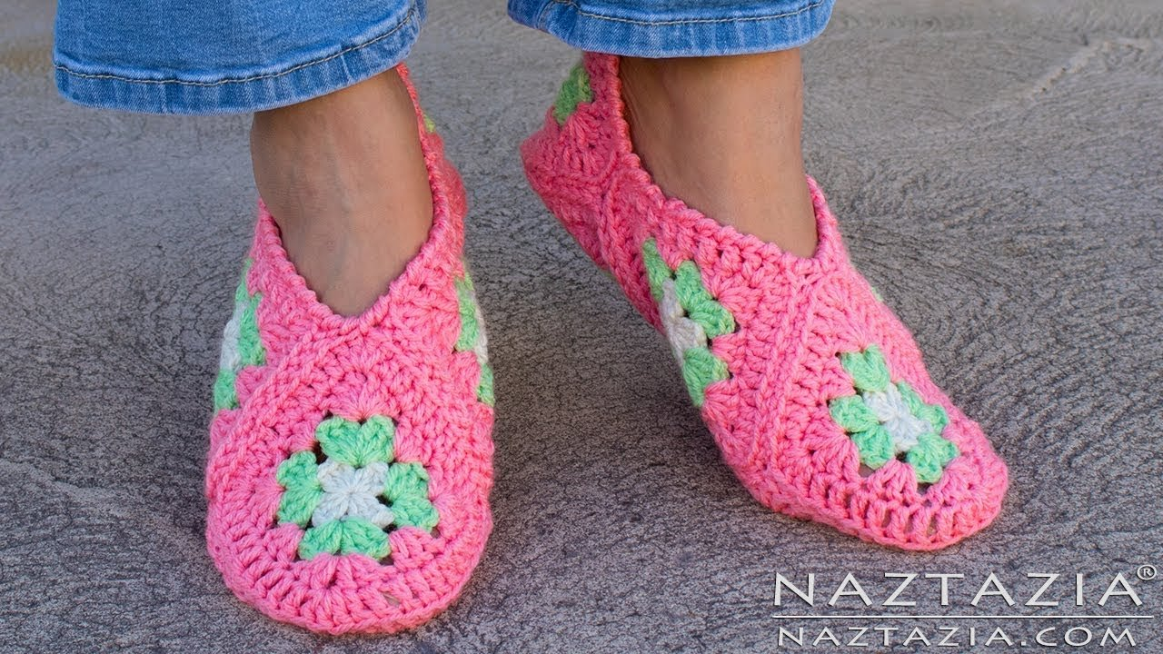Best How To Crochet Granny Square Slippers Diy Tutorial Soft Shoes Booties Bedroom Slipper For With Pictures