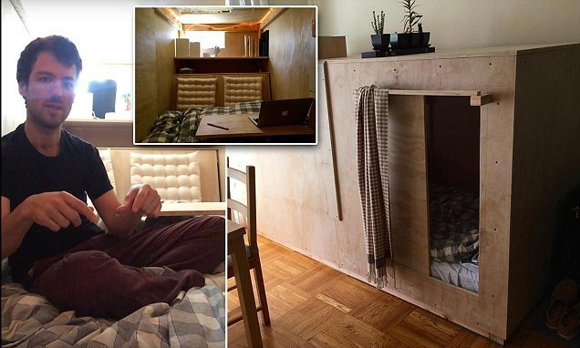 Best Inside The Eight Foot Bedroom Pod Built In A San With Pictures